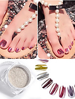 0.5g Nail Silver Mirror Powder Rose Gold Mirror Silver Nail Polish Mirror Flash Powder