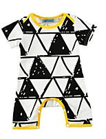 Baby Romper Geometic One-Pieces Cotton Summer Short Sleeve Triangle Bodysuits Newborn Infant Kids Boys Clothes