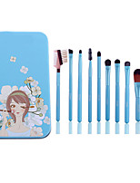 1set Makeup Brush Set Synthetic Hair Beech Wood Lady
