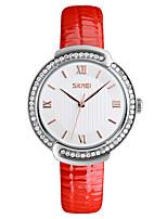 SKMEI Жен. Нарядные часы Модные часы Имитационная Четырехугольник Часы Наручные часы Повседневные часы Японский Кварцевый Защита от влаги