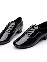 Men's Latin Leatherette Sneakers Training Customized Heel Black 1