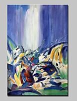 Peint à la main Abstrait Format Vertical,Abstrait Moderne Un Panneau Toile Peinture à l'huile Hang-peint For Décoration d'intérieur