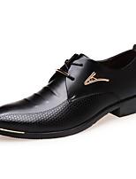 Masculino Oxfords Sapatos formais Conforto Courino Primavera Verão Outono Inverno Casual Cadarço Salto Baixo Preto Marron Menos de 2,5cm