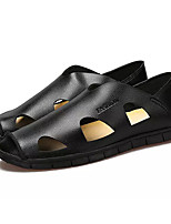 Men's Loafers & Slip-Ons Comfort Light Soles Spring Fall PU Casual Outdoor Flat Heel Black Yellow Brown Flat