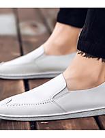Men's Loafers & Slip-Ons Comfort Summer PU Casual White Black Orange Under 1in
