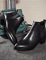 Для женщин Обувь Полиуретан Осень Зима Удобная обувь Ботинки Назначение Повседневные Черный
