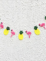 1 Piece Tropical Rain Forest Flamingos Decorated With Flowers Wedding Party Is Decorated With Props