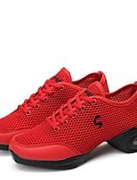 Для женщин Танцевальные кроссовки Дышащая сетка Кроссовки Для открытой площадки На низком каблуке Белый Черный Красный 2,5 - 4,5 см