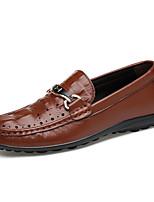 Masculino Mocassins e Slip-Ons Conforto Solados com Luzes Sapatos formais Sapatos de mergulho Pele Real Pele Napa Pele Verão Outono