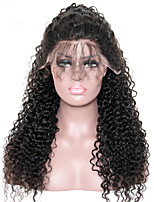Curly Lace Front Human Hair Wigs For Black Women Pre Plucked 250% Density Mongolian Non-remy CARA Hair Bleached Knots