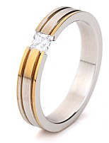 Women's Band Rings AAA Cubic Zirconia Simple Classic Elegant Titanium Steel Ring Jewelry For Wedding Engagement Party