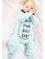 Baby Print One-Pieces Cotton Spring/Fall Winter Long Sleeve Boys Romper Letter Light BLue Newborn Infant Bodysuits Jumpsuits