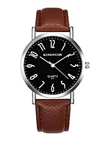 Men's Sport Watch Dress Watch Fashion Watch Wrist watch Casual Watch Chinese Quartz / Leather Band Vintage Charm Casual Black Brown