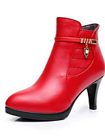 Women's Boots Comfort Fall PU Casual Ruby 2in-2 3/4in