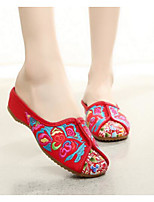 Women's Shoes Fabric Summer Comfort Slippers & Flip-Flops With For Casual Beige Red
