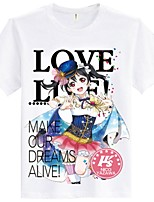 Inspired by Love Live Cosplay Anime Cosplay Costumes Cosplay T-shirt Cartoon Short Sleeves Top For Unisex