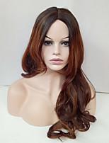 Парики из искусственных волос Без шапочки-основы Длиный Волнистые Золотой блондин Парик из натуральных волос Карнавальные парики