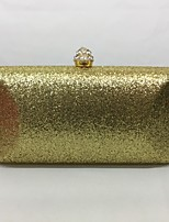 Women Evening Bag Metal All Seasons Event/Party Rectangle Push Lock Silver Black Gold Champagne