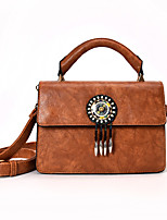 Women Bags All Seasons PU Tote with for Wedding Event/Party Casual Formal Office & Career Green Black Blushing Pink Brown