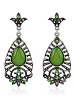 Women's Earrings Set Basic Vintage Emerald Alloy Jewelry For Gift Evening Party Stage Date Club