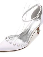 Da donna scarpe da sposa Comoda D'Orsay Decolleté Raso Primavera Estate Matrimonio Formale Serata e festaCon diamantini Perle Perle di