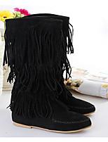 Для женщин Ботинки Удобная обувь Модная обувь Весна Зима Натуральная кожа Полиуретан Повседневные Черный Коричневый Верблюжий На плоской