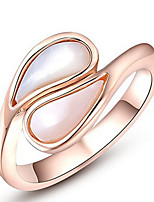 Settings Ring Band Ring  Luxury Women's Euramerican Fashion Opal Droplets Orange Style Ring Birthday Wedding Anniversary Movie Gift Jewelry