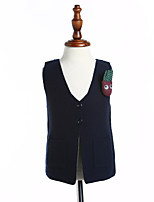 Girls' Solid Blouse,Cotton Spring Fall Sleeveless