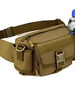 2 L Waist Bag/Waistpack Camping / Hiking Outdoor Moistureproof/Moisture Permeability Outdoor Nylon