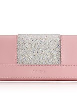 Women Checkbook Wallet Cowhide All Seasons Daily Casual Rectangle Magnetic Black Dark Blue Blushing Pink