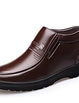Для мужчин Мокасины и Свитер Удобная обувь Светодиодные подошвы Обувь для дайвинга Натуральная кожа Наппа Leather Кожа ЗимаСвадьба