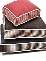 Dog Bed Pet Mats & Pads Stripe Soft Washable Blue Ruby Coffee