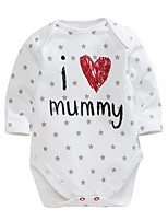 Baby Stripe One-Pieces,Cotton Spring 1/2 Length Sleeve
