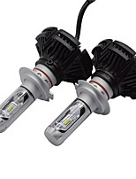 1 Kit X3 LED Headlight Kit 50W 6000 LM ZES Chip LED Headlight Kit with Super Bright Lightness