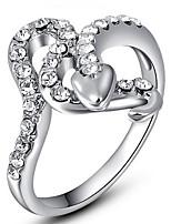 Жен. Кольца для пар Кольца на вторую фалангу Классические кольца СтразыБазовый дизайн Мода По заказу покупателя Хип-хоп Rock Симпатичные