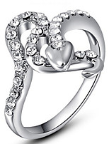 Settings Ring Band Ring  Luxury Women's Euramerican Line Rhinestone Style Party Graduation Engagement Birthday  Movie Gift Jewelry