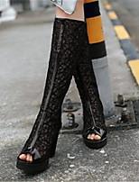 Для женщин Обувь Полиуретан Весна Осень Удобная обувь Ботинки Назначение Повседневные Белый Черный
