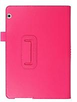 Caja de cuero de la PU del patrón del lichee del color sólido con el soporte para el mediapad t3 del huawei PC de la tableta de 10.0