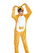 Kigurumi Pajamas Kangaroo Festival/Holiday Animal Sleepwear Halloween Cyan Fashion Embroidered Flannel Fabric Cosplay Costumes Kigurumi
