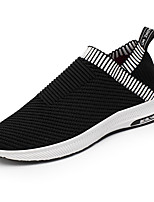 Men's Sneakers Light Soles Spring Fall Knit Walking Shoes Casual Outdoor Flat Heel Black Beige Gray Flat