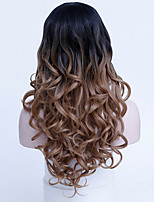 Popular Ombre 1B/30# Color Wave High Temperature Resistant Synthetic Hair Daily Wig for Women