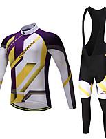 Maglia con salopette lunga da ciclismo Per uomo Non specificato Manica lunga BiciclettaPantalone/Sovrapantaloni Maglietta/Maglia