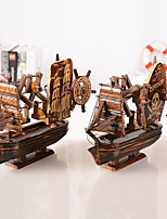 The Antique Pirate Ship Of The Eight Sound Box Mediterranean Style Wood Make Old Music Windmill