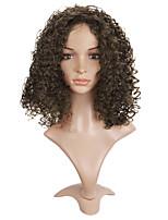 Perruques naturelles Synthétique Sans bonnet Perruques Long Marron Cheveux