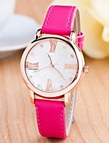Women's Fashion Watch Quartz Noctilucent Leather Band Casual
