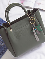 Women Bags All Seasons PU Tote with Tassel for Wedding Event/Party Casual Formal Office & Career Blue Green Black Pale Pink Gray