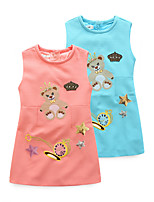 Girl's Cartoon Dress,Cotton Polyester Spring Summer Sleeveless