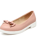Women's Heels Basic Pump Spring Summer Synthetic Microfiber PU PU Casual Office & Career Dress Bowknot Chunky Heel Beige Blushing Pink