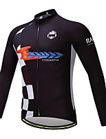 Long Sleeves Bike Tops Quick Dry Breathability High Elasticity Lightweight Spandex Polyester Autumn Spring