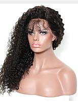 жен. Парики из натуральных волос на кружевной основе Натуральные волосы Лента спереди Бесклеевая кружевная лента 130% плотность Парик